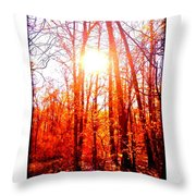 Fall Stroll Throw Pillow
