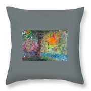 Fall Sun Throw Pillow