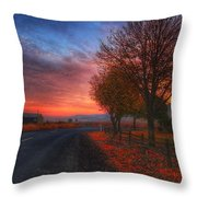 Fall Sunrise Throw Pillow