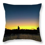 Fall Sunset In Nj Throw Pillow