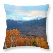 Fall Sunset On Adams And Madison Throw Pillow