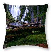 Fall Through Throw Pillow