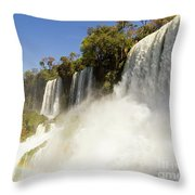 Fall To The Rainbow Throw Pillow