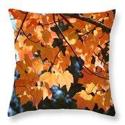 Fall Tree Art Prints Orange Autumn Leaves Baslee Troutman Throw Pillow