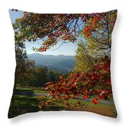 Fall Tree Colors II Throw Pillow