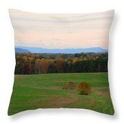 Fall View Of The Blue Ridge Mountains Throw Pillow