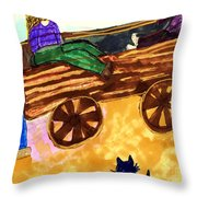Fall Wagon Ride Throw Pillow