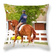 Fall Warmup Throw Pillow