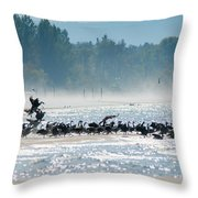 Fall Wasaga Beach Throw Pillow