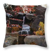 Fall Waterfall Throw Pillow