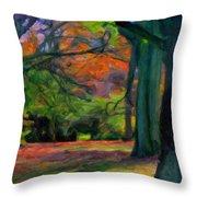 Fall Woods Throw Pillow