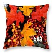 Fall Wreath Throw Pillow