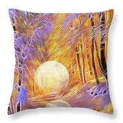 Falled Moon Throw Pillow