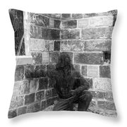 Fallen Airman Black And White Throw Pillow