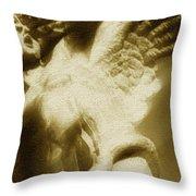Fallen Angel Vertical Gold Throw Pillow