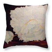 Fallen Begonia Throw Pillow