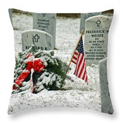 Fallen Heroes II Throw Pillow