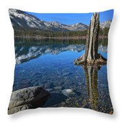 Fallen Leaf Lake Color Throw Pillow