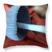 Fallen Mushroom Throw Pillow
