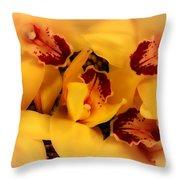 Fallen Orchids Throw Pillow