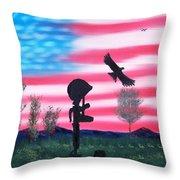 Fallen Soldier Throw Pillow