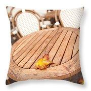 Fallen Yellow Autumn Leaf Throw Pillow