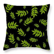 Falling Ash Leaves  Throw Pillow