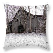 Falling Barn Throw Pillow
