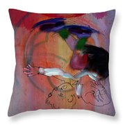 Falling Boy Throw Pillow