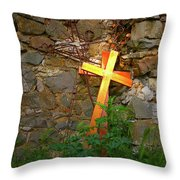 Falling Crosses Throw Pillow