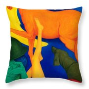 Falling Down. Throw Pillow