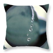 Falling Droplets   Throw Pillow
