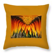 Falling Fire Throw Pillow