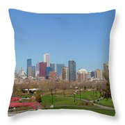 Falling For Chicago Throw Pillow