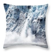 Falling Ice In Alaska Throw Pillow