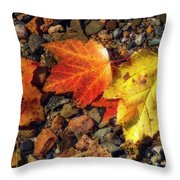 Falling In Threes Throw Pillow
