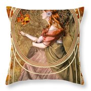 Falling Leaves Throw Pillow by John Edwards