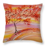 Falling On A Hill Throw Pillow