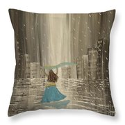 Falling Out Of Love Throw Pillow