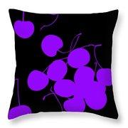 Falling Purple Cherries Throw Pillow