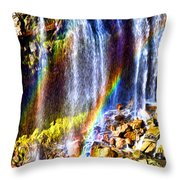 Falling Rainbows Throw Pillow