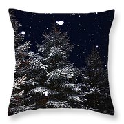 Falling Snow Throw Pillow