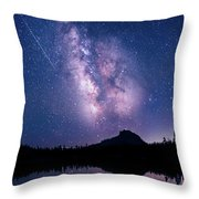 Falling Star Over The Sierras Throw Pillow