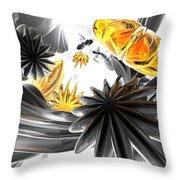 Falling Stars Abstract Throw Pillow