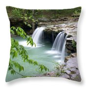 Falling Water Falls 4 Throw Pillow by Marty Koch