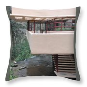 Falling Water Frank Lloyd Wright Throw Pillow