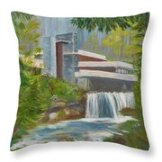 Falling Water Throw Pillow