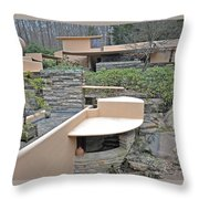 Falling Water Lines Curves Throw Pillow