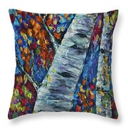 Falll In Rockies - Left Panel Throw Pillow