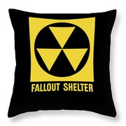 Fallout Shelter Sign Throw Pillow